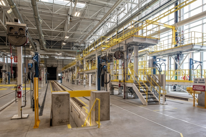 Whitby Rail Maintenance Facility – Coach Maintenance Shop  - June 2018