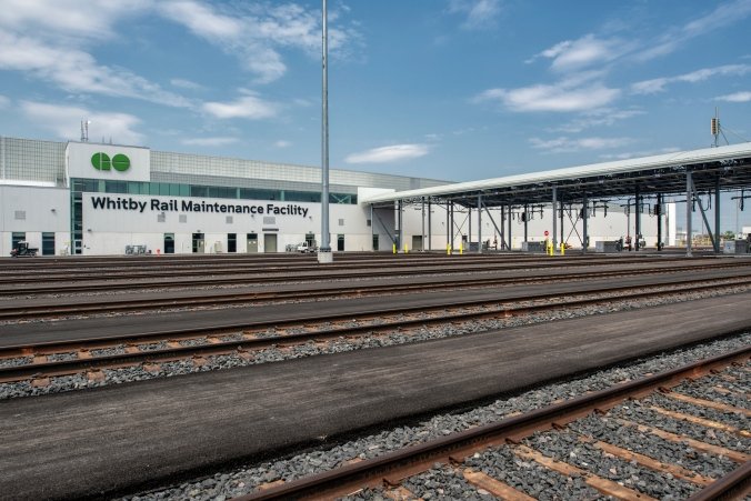 Image shows tracks outside the facility.