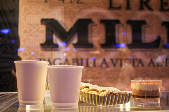 Photo of coffee cups and pastries.