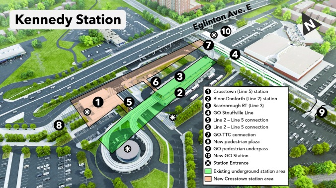 A map shows the different elements of the station.