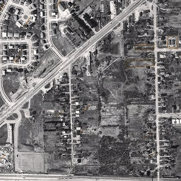 Aerial photo of the Guildwood community in 1967