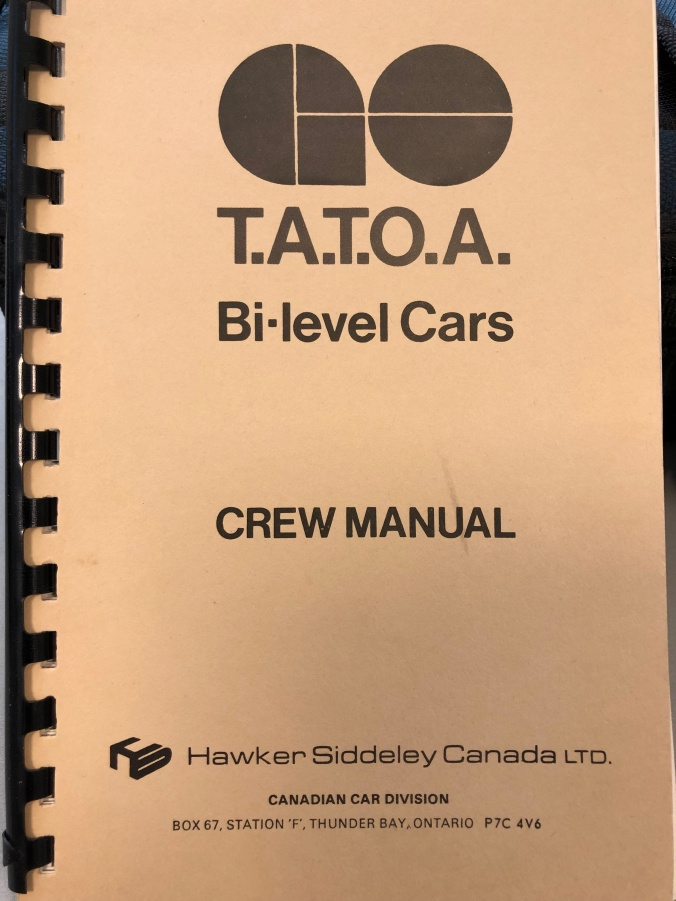 Image shows the cover of the crew manuel.