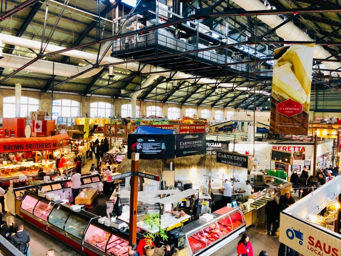 Image shows stalls inside St. Lawrence Market