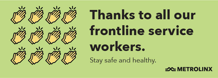 A postcard thanks essential workers.