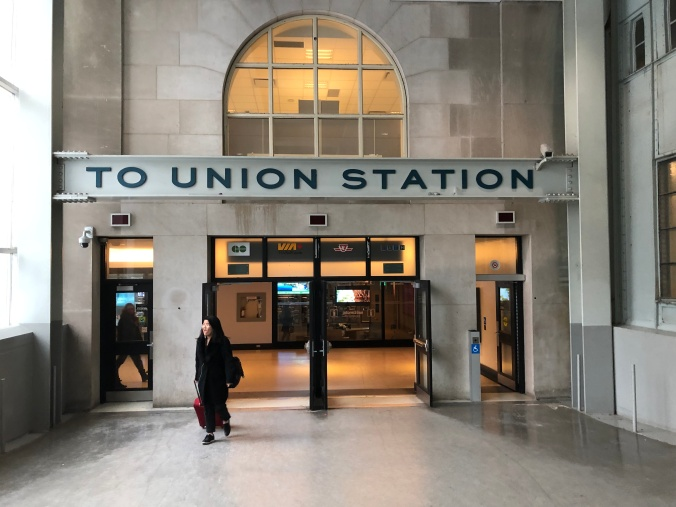 Image shows the Union Station sign.