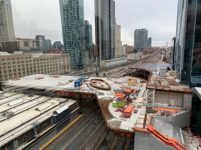 Image show a large section being built across the rail corridor.