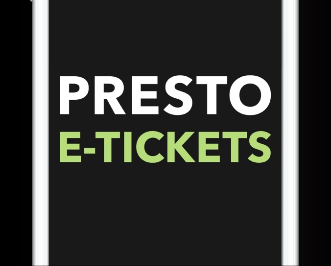 screenshot of PRESTO etickets