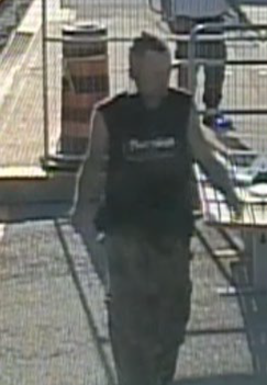Another image of the man on the platform.