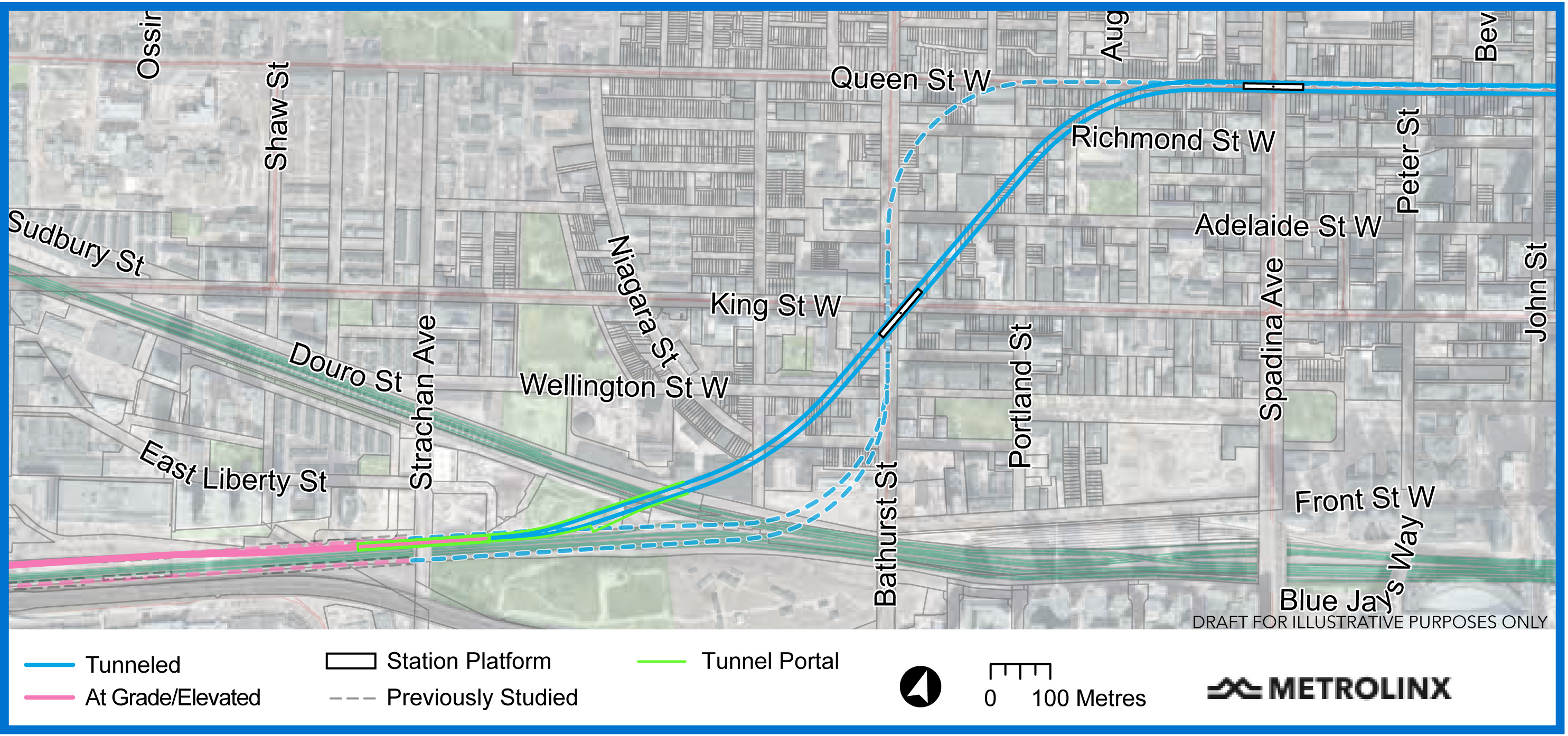 Image shows a map of the route across Toronto.