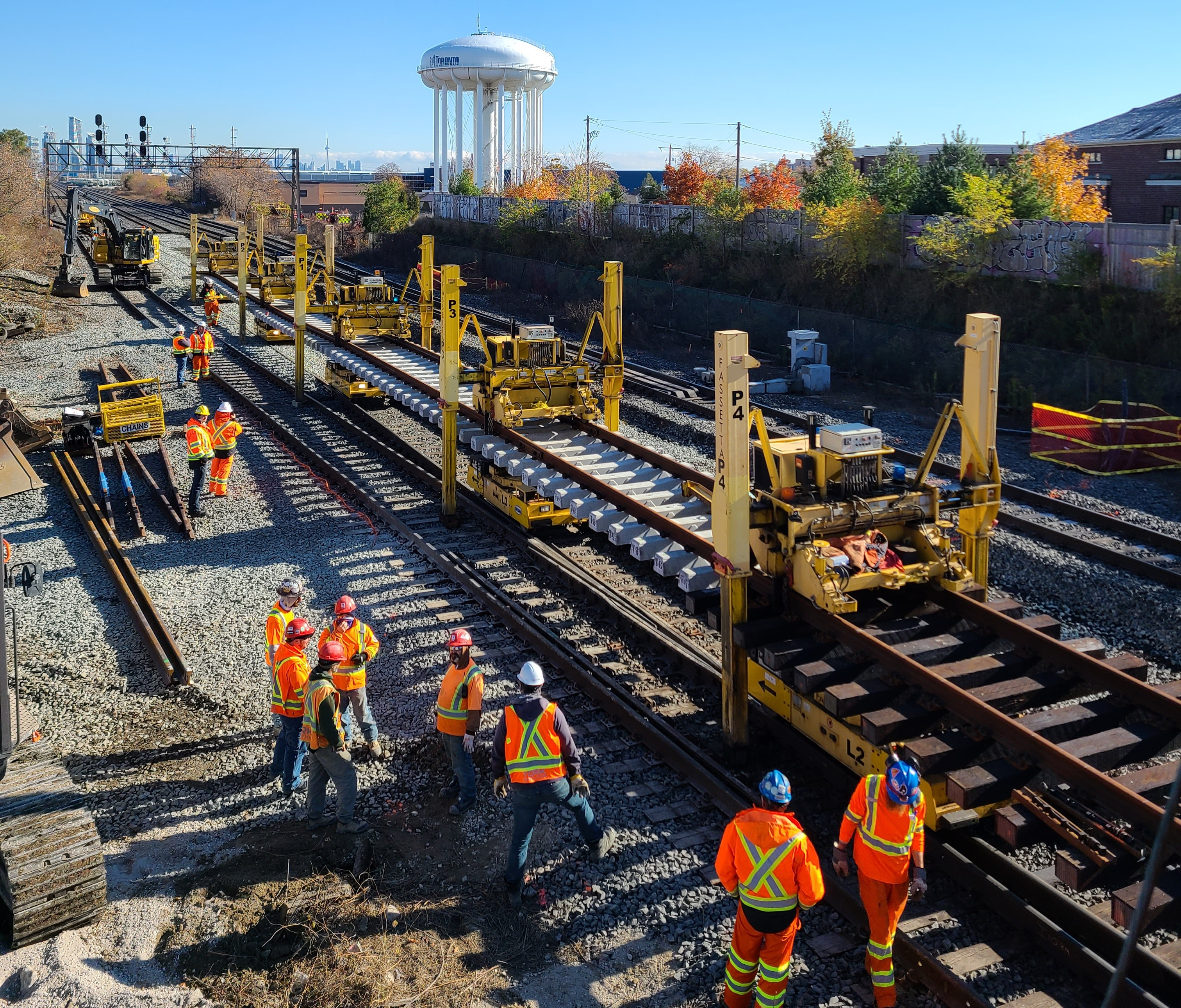 Work crews are replacing track and signal infrastructure on the Lakeshore West line over the next several months