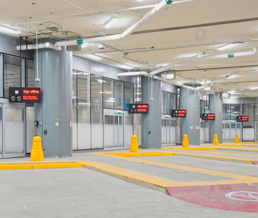 photo of the departure bays where the buses will be parked when loading and unloading