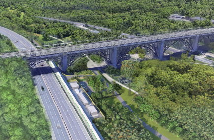 An artist's rendering of what the Don Valley Layover could look like