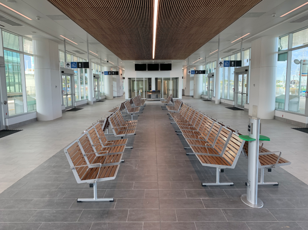 Image shows waiting area with chairs.