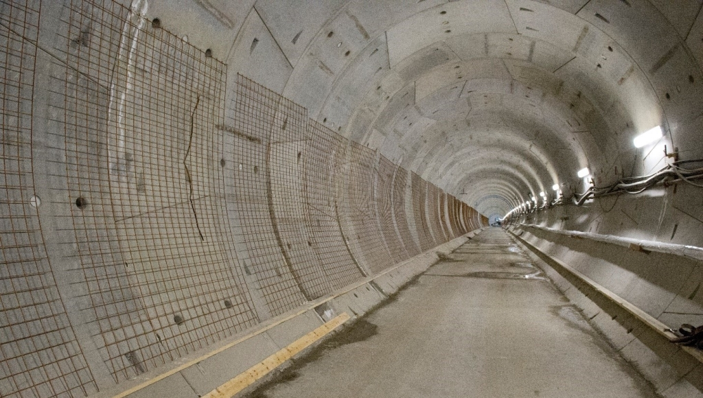 Image of a tunnel built for the Eglinton Crosstown LRT